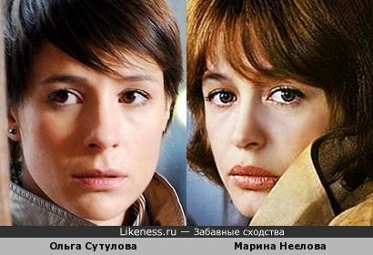 Ольга Сутулова и Марина Неелова похожи