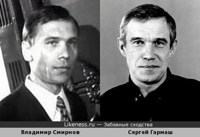 Владимир Смирнов и Сергей Гармаш похожи
