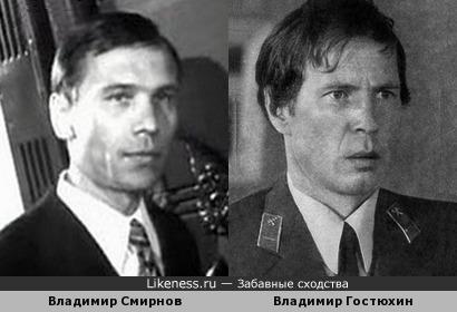 Владимир Смирнов и Владимир Гостюхин похожи