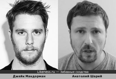 Джейк Макдорман и Анатолий Шарий похожи
