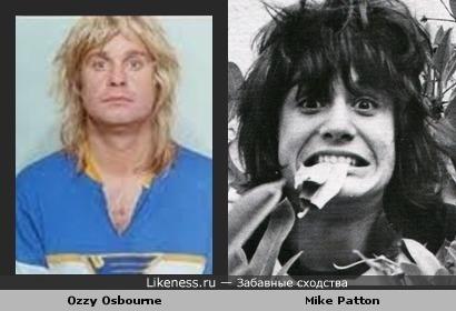 Оззи Осборн похож с Майком Паттоном