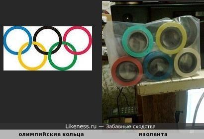 изолента и олимпийские кольца