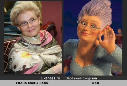 Елена Малышева похожа на фею из Шрека