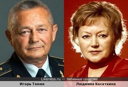 Министр обороны Украины Игорь Тенюх чисто внешне чем-то очень напомнил Людмилу Касакину
