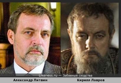 Александр Литвин и Кирилл Лавров в гриме