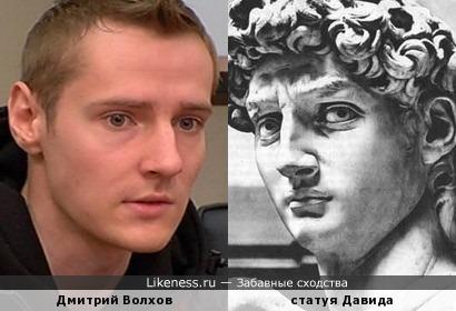 Дмитрий Волхов похож на Давида