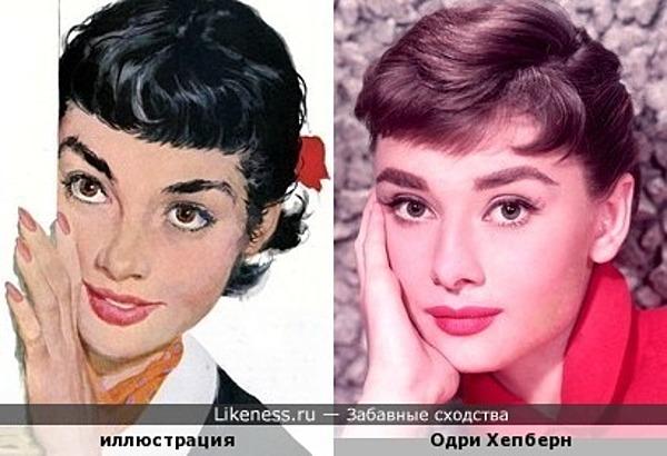 Девушка на иллюстрации Joe Bowler напоминает Одри Хепберн