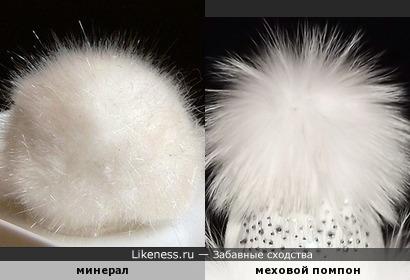 Меховой помпончик для шапочки (вариант 2)