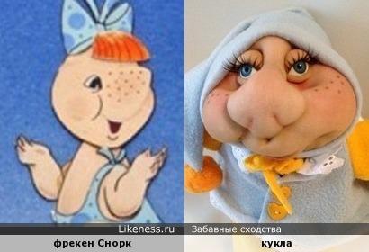 Кукла похожа на сестрёнку Муми-тролля из мультфильма