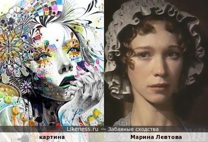 Девушка на картине Минджае Ли напомнила Марину Левтову