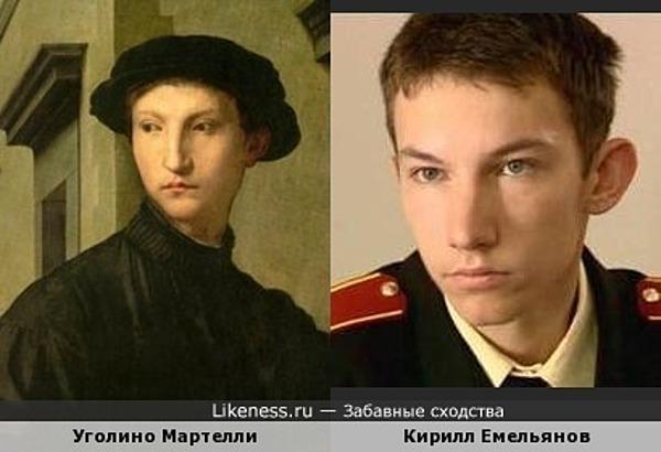 Кирилл Емельянов на портрете Аньоло Бронзино