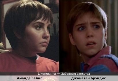 Аманда Байнс и Джонатан Брэндис немного похожи в этих ролях