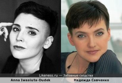 Польская писательница Anna Iwasiuta-Dudek и Надежда Савченко