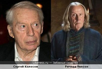 Сергей Колосов и Ричард Уилсон немного похожи