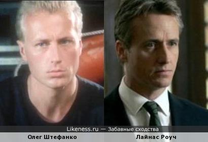 Олег Штефанко в молодости и Лайнас Роуч, есть что-то общее