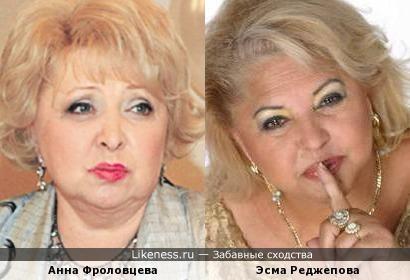 Анна Фроловцева и Эсма Реджепова