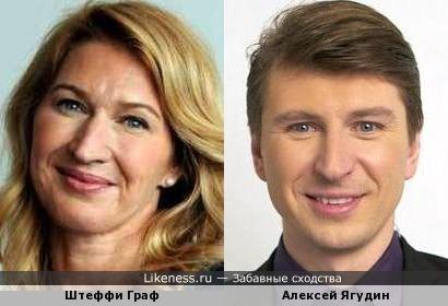 Штеффи Граф и Алексей Ягудин