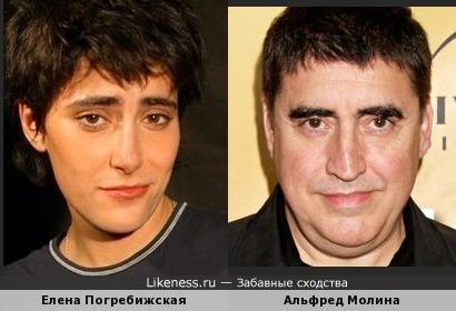 Елена Погребижская и Альфред Молина