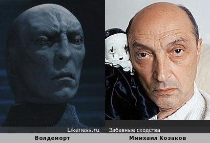 Волдеморт на затылке профессора Квиррелла похож на Михаила Козакова