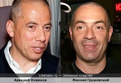 Аркадий Новиков и Михаил Грушевский немного похожи