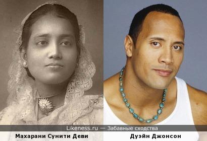 Индийская дама на старинном фото напомнила Дуэйна Джонсона