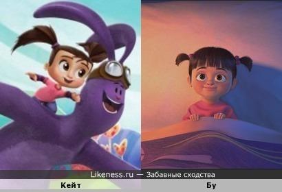 Один персонаж на два разных мультфильма