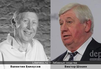 Валентин Белоусов похож на Виктора Шокина
