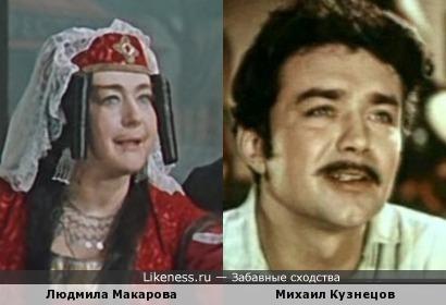 Людмила Макарова в образе Ханумы напомнила Михаила Кузнецова