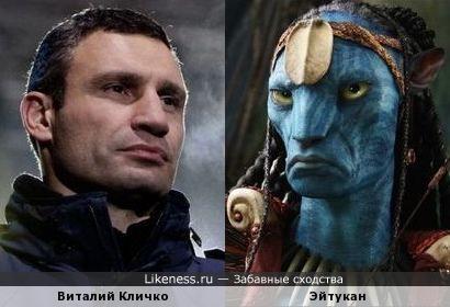 Вроде и не похожи, но чем-то этот персонаж напомнил Виталия Кличко