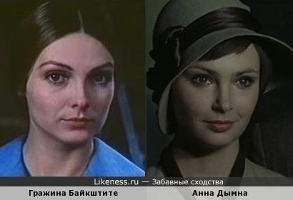 Гражина Байкштите чем-то напомнила Анну Дымну