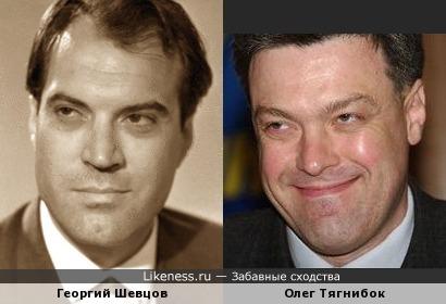 Георгий Шевцов и Олег Тягнибок