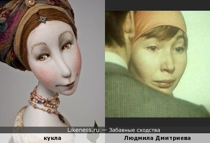 Авторская кукла напомнила Людмилу Дмитриеву в молодости