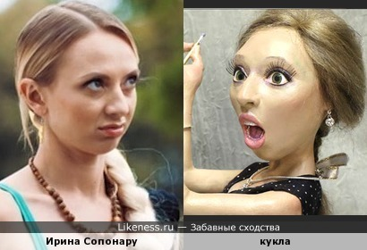 Авторская кукла напомнила Ирину Сопонару