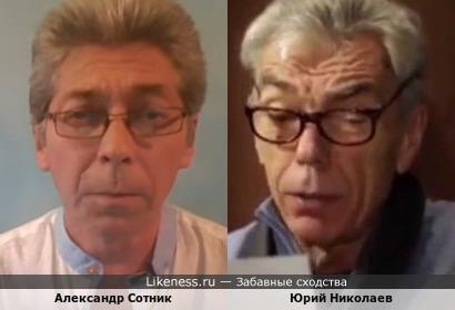 Ведущий интернет-канала Саша Сотник немного похож на ведущего Юрия Николаева