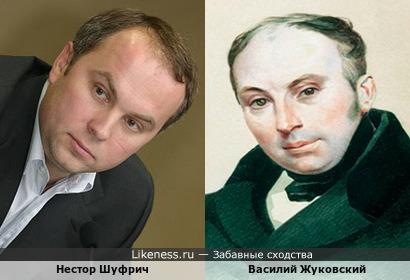 Нестор Шуфрич и Василий Жуковский