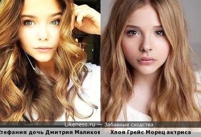 Стефания похожа на Хлою