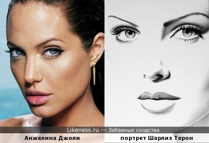портрет Шарлиз Терон больше подошел бы Анжелине Джоли