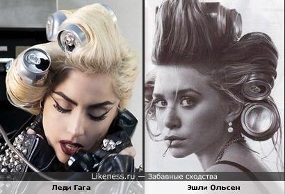 Леди Гага похожа на Эшли Ольсен