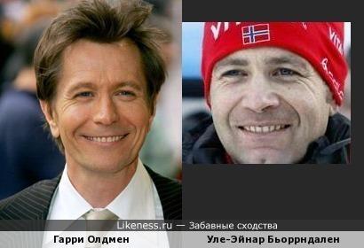 Уле-Эйнар Бьоррндален похож на Гарри Олдмена