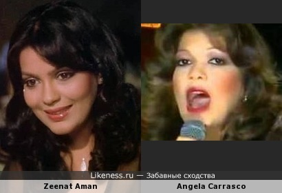 Zeenat Aman и Angela Carrasco