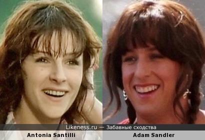 Antonia Santilli и Adam Sandler