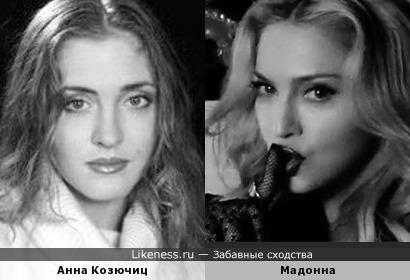 Анна Козючиц и Мадонна