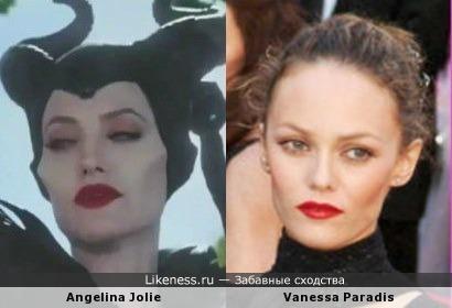 Angelina Jolie и Vanessa Paradis