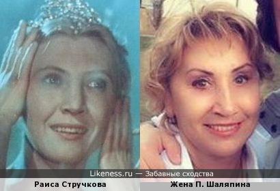 Раиса Стручкова и Жена П. Шаляпина