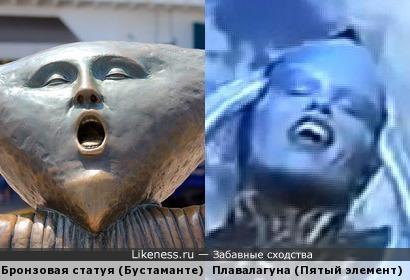 Бронзовая статуя и Плавалагуна