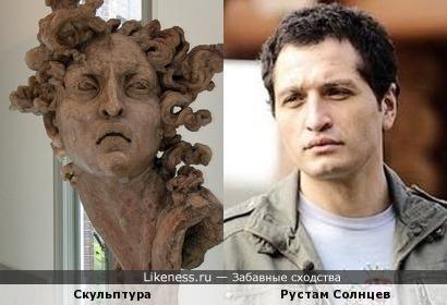 Скульптура и Рустам Солнцев