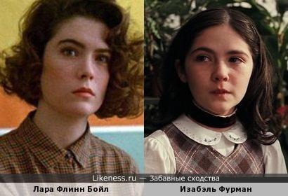 Лара Флинн Бойл и Изабэль Фурман