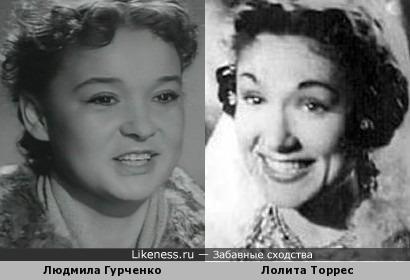 Людмила Гурченко и Лолита Торрес
