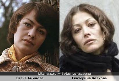 Елена Аминова и Екатерина Волковa