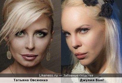 Татьяна Овсиенко и Джулия Ванг